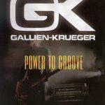 Gallien-Krueger front cover catalogue