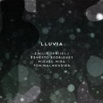 "Emilie Skrijelj + Ernesto Rodrigues + Miguel Mira + Tom Malmendier ""Lluvia"" CD cover"