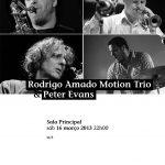 Rodrigo Amado Motion Trio & Peter Evans concert program